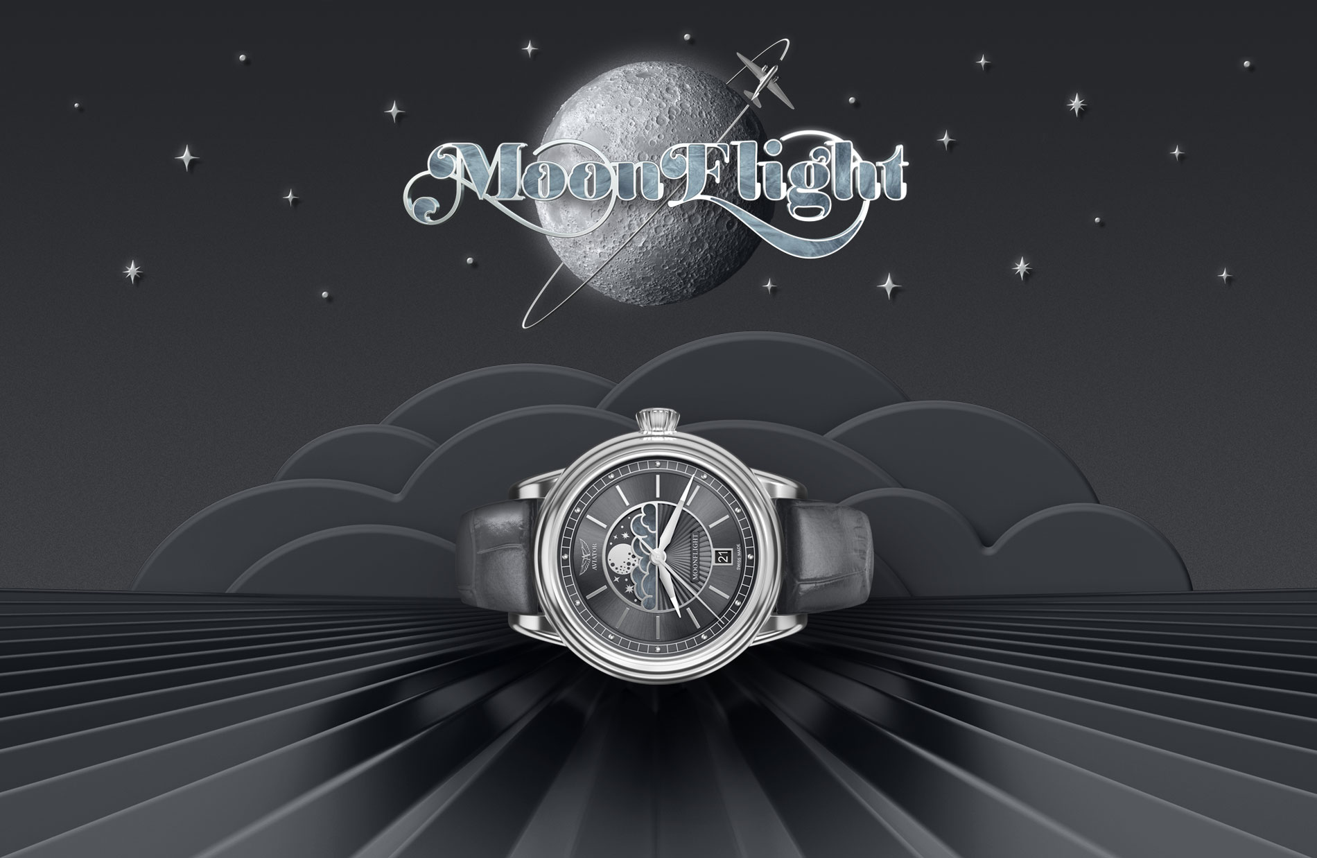 Aviator Moonflight Grey 60